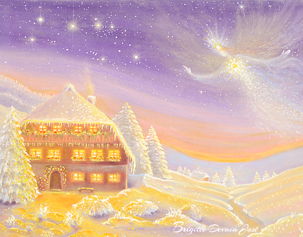 Brigitte Devaia Jost Winterzauber Engel winter magic angel Ausschnitt